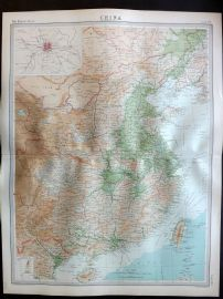 Bartholomew 1922 Large Map. China